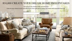 Pottery Barn Sweepstakes Winner - pottery barn 10 000 create your dream home sweepstakes win a 10 000 pottery barn