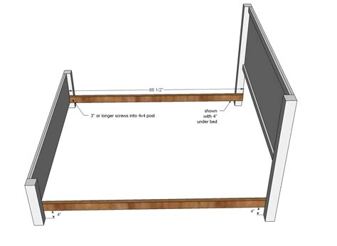 Bed Frame Pieces Wood How Can I Attach The Frame Of A Bed To Legs Using Carriage Bolts Home Improvement