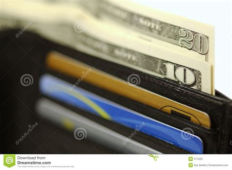Gift Card With Money - wallet with money and cards stock photos image 371223