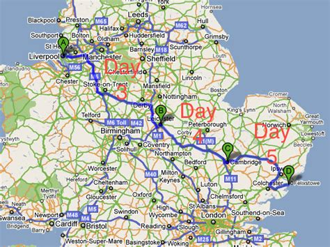 map uk motorways galway to russia on a bike galway to russia on a bike