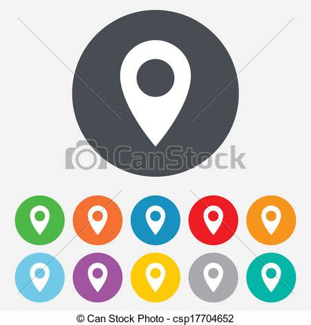 Vecteur carte, Indicateur, icône, GPS, emplacement, Symbole Banque d'illustrations