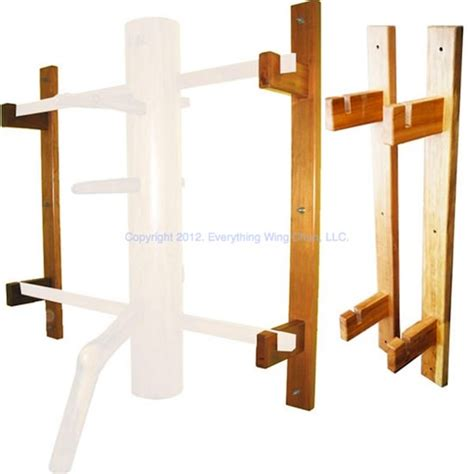 buick yip wooden dummy stand wall mount mook yan