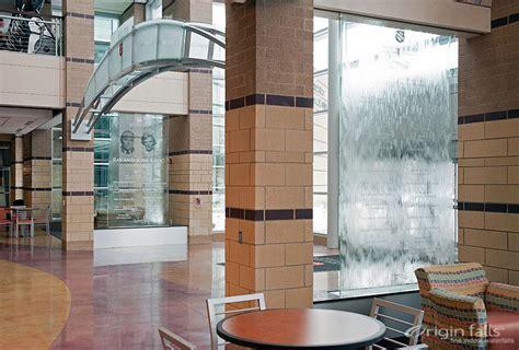 indoor waterfalls and custom indoor water features