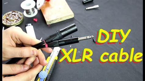 xlr   trs balanced audio signal cable diy youtube