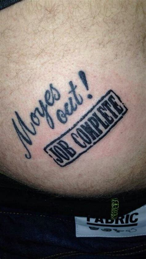 a manchester united fan who had moyes out tattooed on