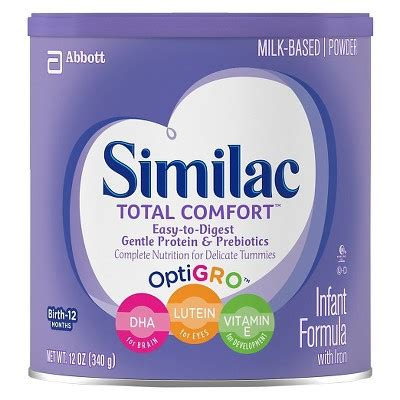 similac total comfort hypoallergenic similac 174 total comfort infant formula powder 12 0 oz