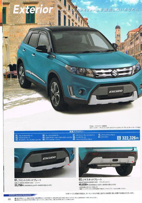 Suzuki Brochure Suzuki Escudo Brochure Exterior Leaked Indian Autos
