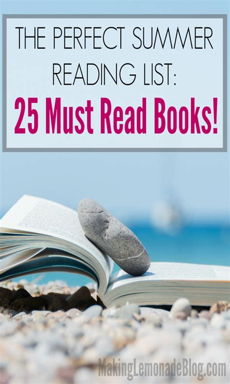 the summer reading list 25 must read books