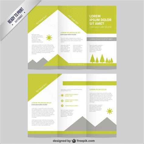 free templates for brochures nature brochure template vector free