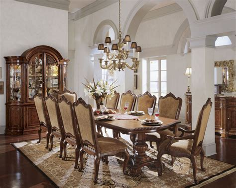 universal furniture dining room double pedestal table villa cortina oval double pedestal extendable dining room