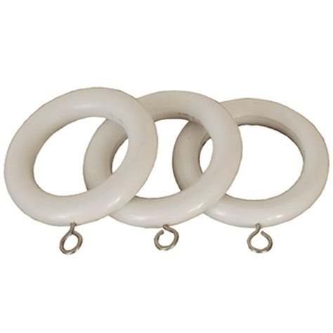 white county 28mm wooden curtain rings at housecharm