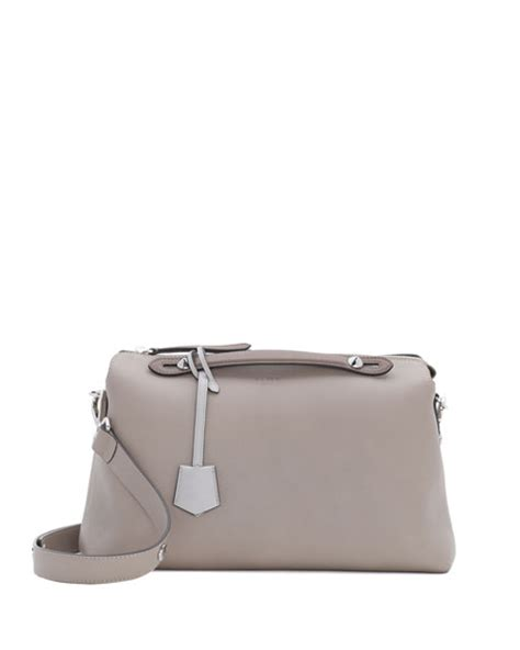 Fendi Btwby The Way Grey fendi by the way leather satchel bag turtle dove gray