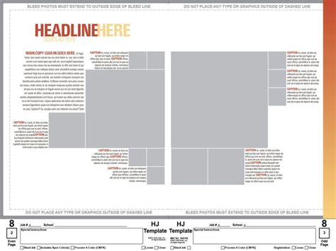 yearbook spread template layouts pinterest