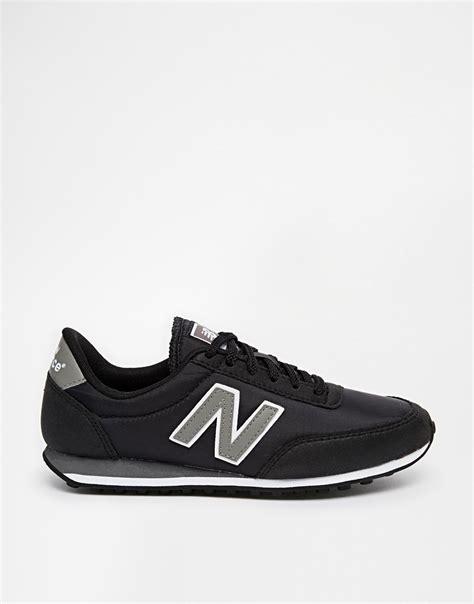 New Balance Black lyst new balance 410 black trainers in black