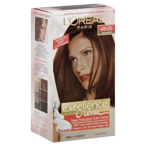 6rb hair color l oreal excellence 6rb light reddish brown