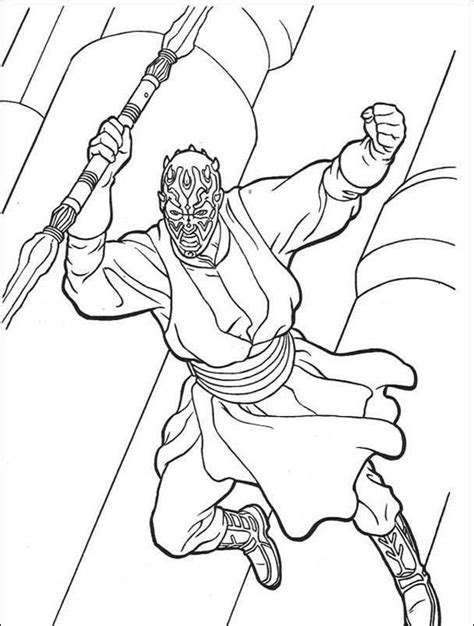 free lego darth maul coloring pages