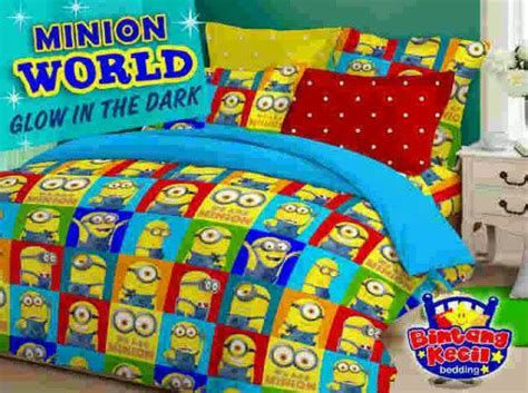 Sprei Katun Jaxine Minion 120x200x20 detail produk sprei dan bedcover minnion world glow in the toko bunda