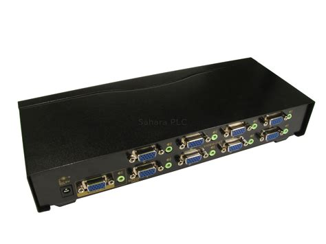 8 port vga splitter with audio presentation systems plc