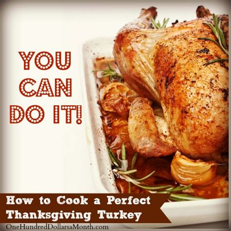 how to cook a perfect thanksgiving turkey one hundred dollars a month
