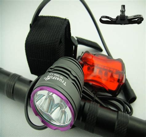 Trustfire Led Bicycle Light 3x Cree Xm L2 1200 Lumens Tr D012 1 2017 trustfire 6000 lumen 3x cree xm l2 led front