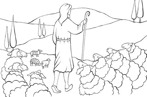 coloring pages jesus the good shepherd parable of the good shepherd the good shepherd