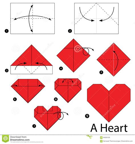 How To Make A Paper Hart - step by step how to make origami a