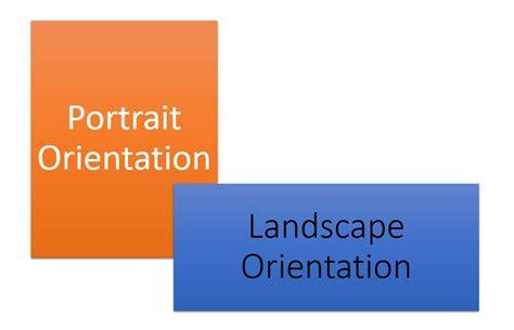 landscape orientation uses landscape and portrait slides in the same powerpoint