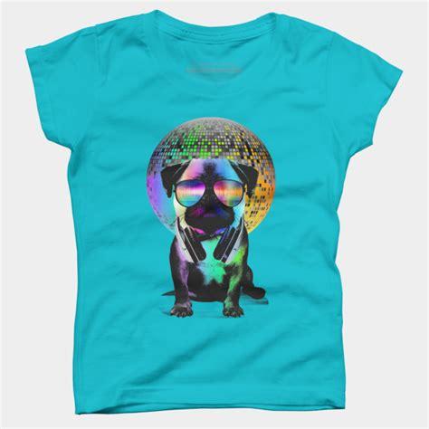 disco pug disco pug t shirt by clingcling design by humans