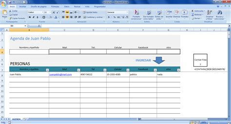 agenda layout excel plantilla agenda en excel clases excel 161 descarga la