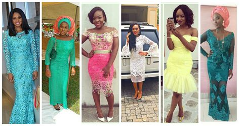 Colorful Aso Ebi In Lace Lookbook 2.   Amillionstyles.com