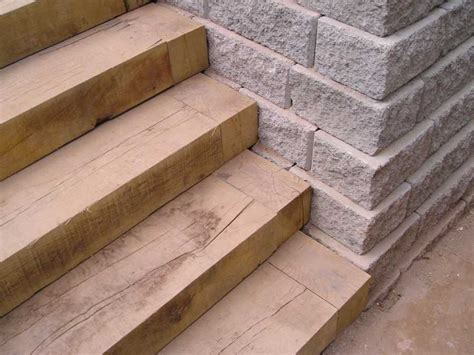 How To Build Steps With Railway Sleepers by Paul S Sherwood Oak Railway Sleeper Steps