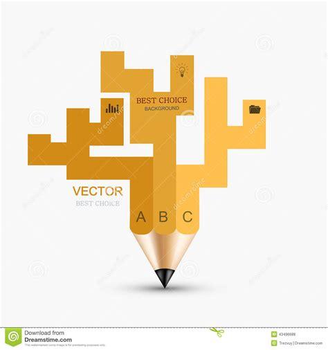 vector pencil design elements vector concept pencil element design stock vector image