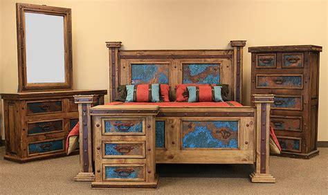 turquoise bedroom set dallas designer furniture turquoise copper panel rustic