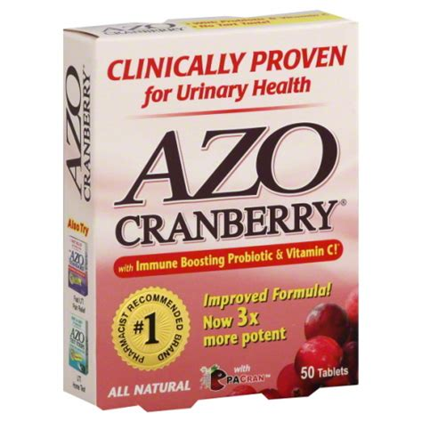 supplement uti azo urinary tract supplement cranberry 50 tablets