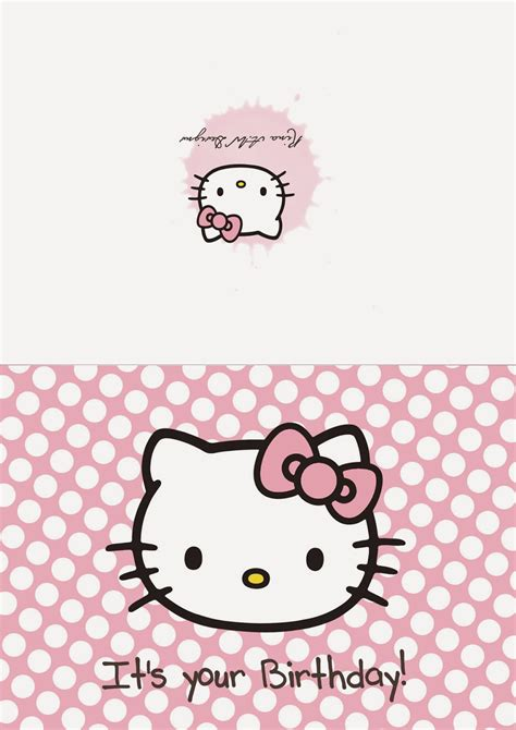 hello kitty printable greeting cards free printable hello kitty happy birthday cards