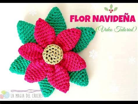 antel de noche buenas a crochet c 243 mo hacer una flor navide 241 a al crochet la magia del