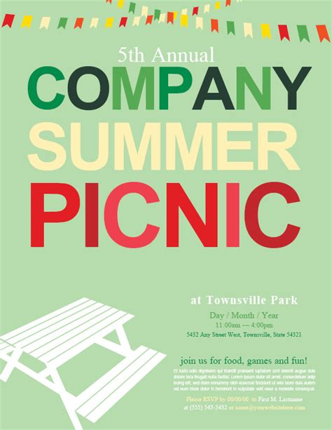 Company Picnic Background Pictures To Pin On Pinterest Pinsdaddy Picnic Flyer Template Word