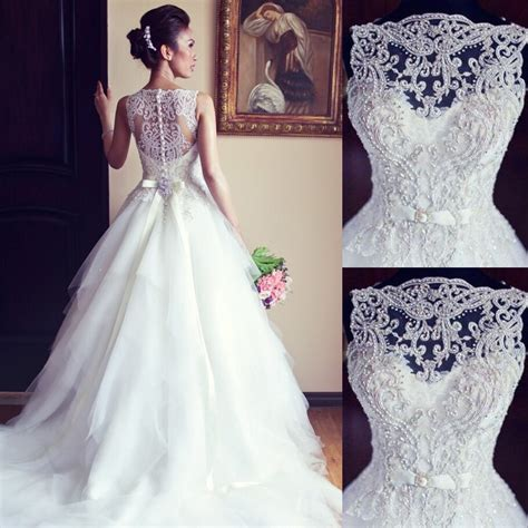 Beaded Wedding Gown by Beaded Wedding Dresses Bridal Gown Bateau