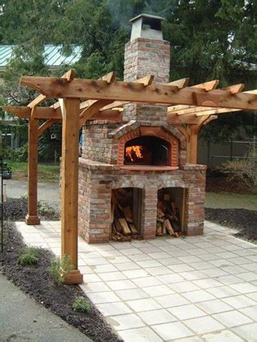 backyard brick pizza oven outdoor pizza oven landscaping network