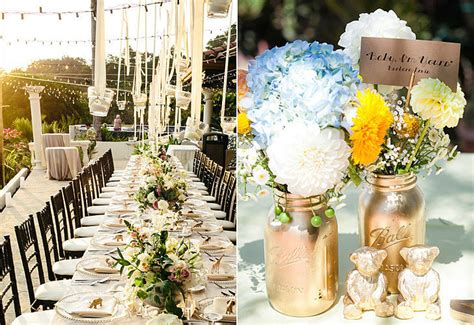 home wedding reception decoration ideas ideas for outdoor wedding reception tables popsugar home