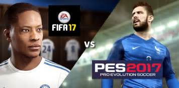 Rivalry between sports games fifa and pro evolution soccer is heating
