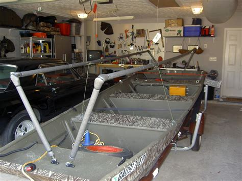Diy Layout Blind Jon Boat Project Pics Georgia Outdoor News Forum