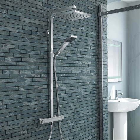 buy  milan modern chrome thermostatic shower