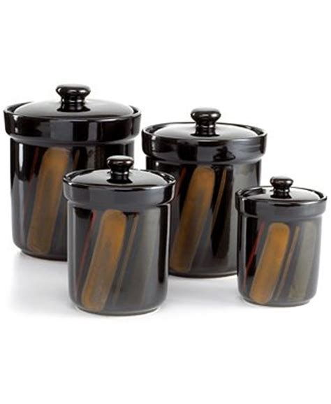 sango avanti black 4 piece canister set 8250597 ebay product not available macy s