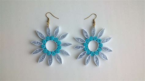 paper quilled flower earrings tutorial how to make paper quilled flower earrings diy crafts