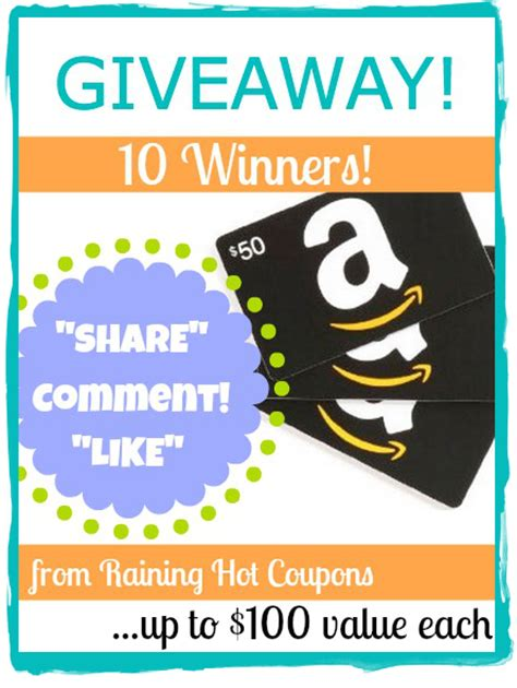 Is Amazon Giving Away Free Gift Cards - i am giving away 10 amazon gift cards up to 100 in value each 10 winners