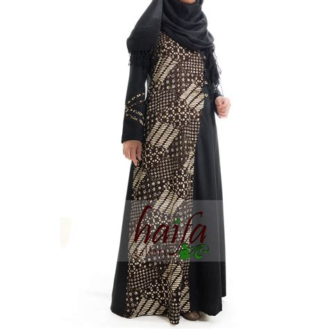 gamis batik rumah jahit haifa part