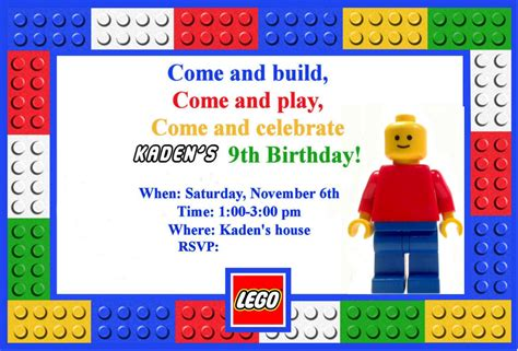 printable lego invitation cards top 20 lego birthday party invitations which popular in