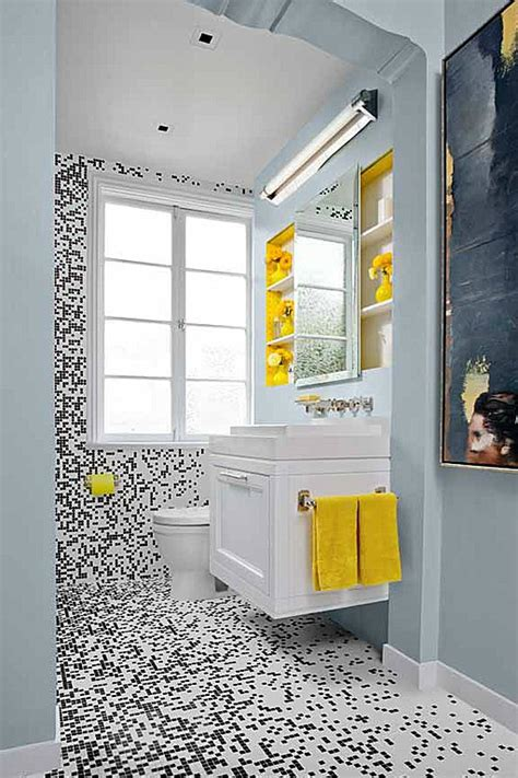 black and yellow bathroom ideas 40 stylish small bathroom design ideas decoholic