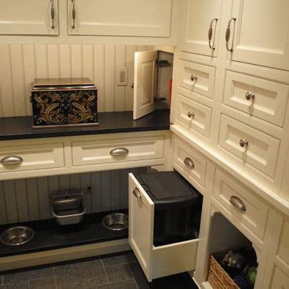 dog food storage cabinet  bowls interior designs